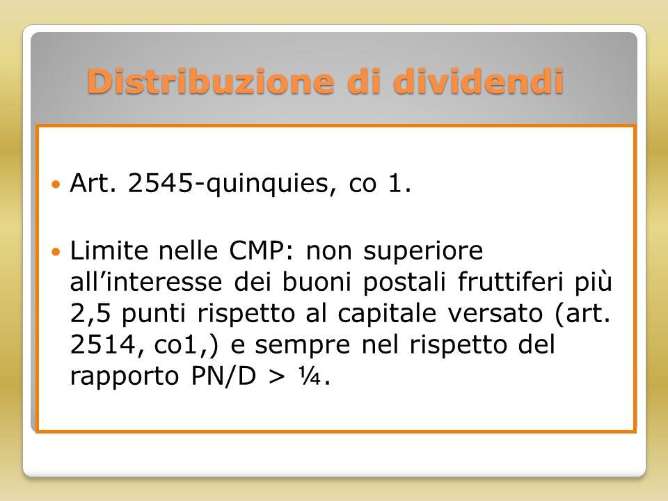 Distribuzione di dividendi
