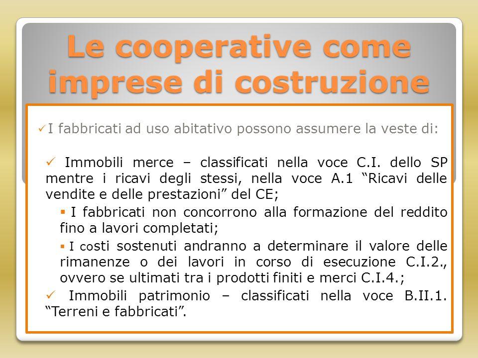 Le cooperative come imprese di costruzione