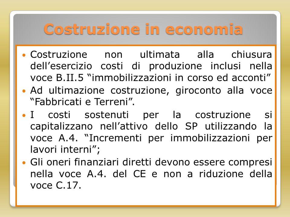 Costruzione in economia