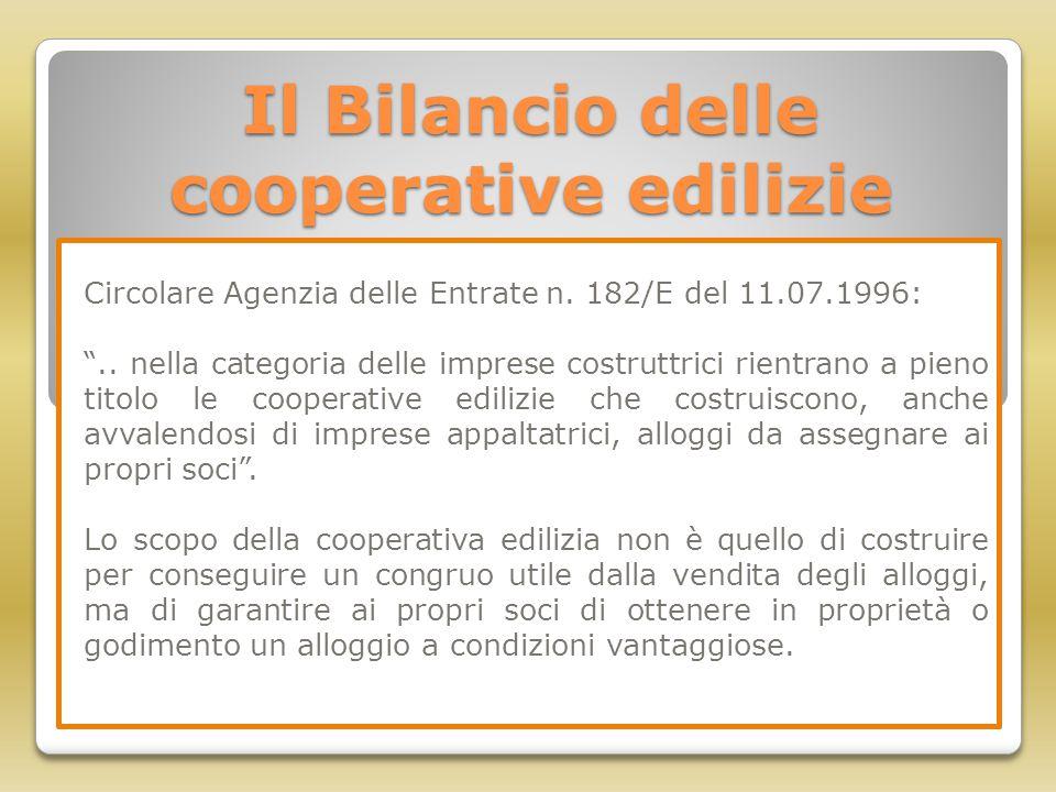 Il Bilancio delle cooperative edilizie
