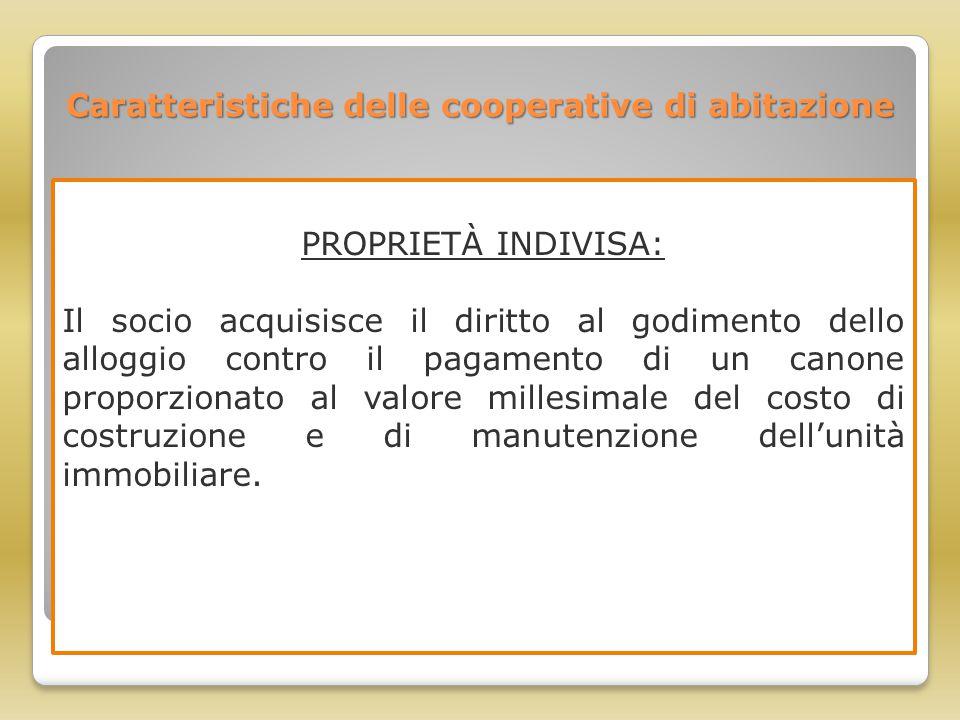 Caratteristiche delle cooperative di abitazione