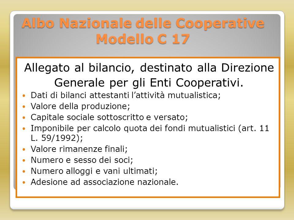 Albo Nazionale delle Cooperative Modello C 17
