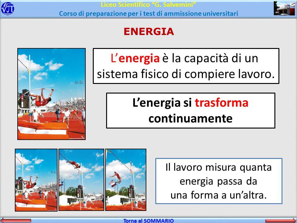 L'energia si trasforma continuamente