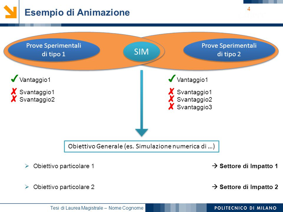 Esempio di Animazione SIM Prove Sperimentali di tipo 1