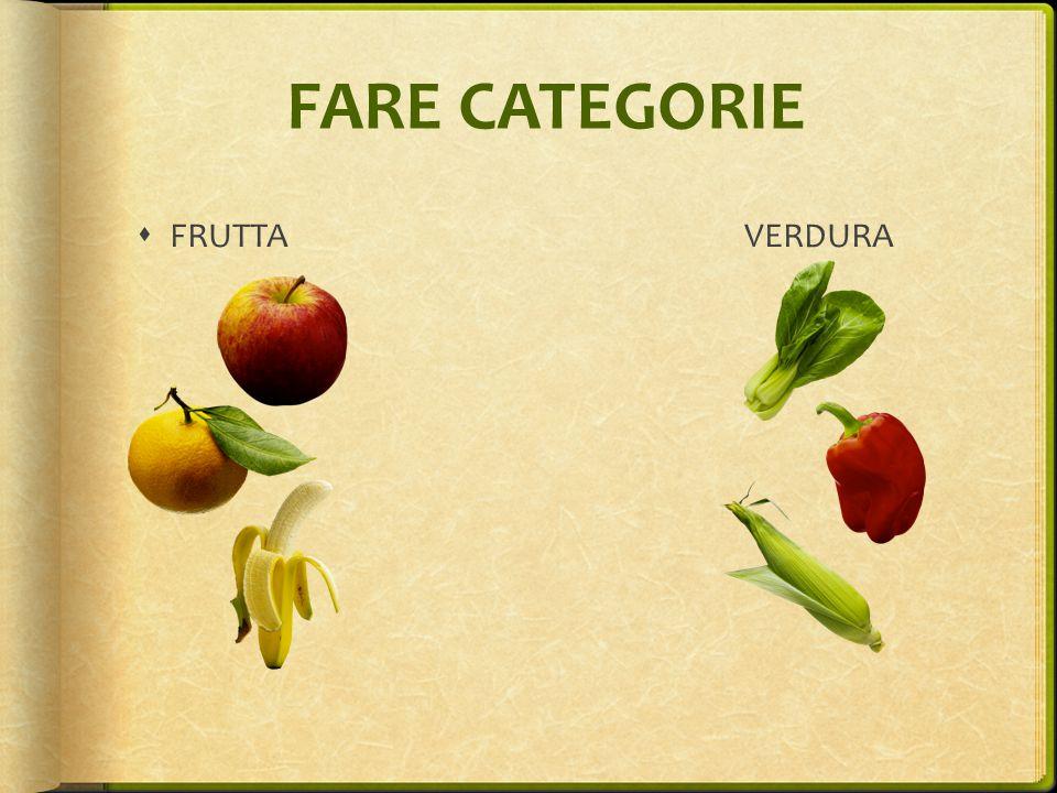 FARE CATEGORIE FRUTTA VERDURA I