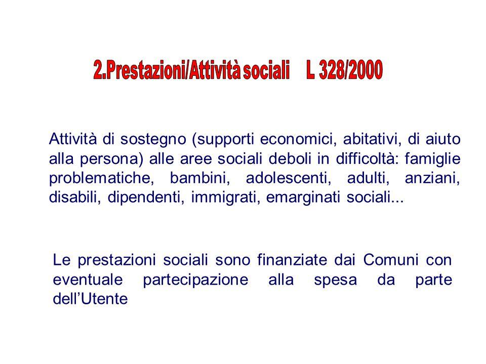 2.Prestazioni/Attività sociali L 328/2000