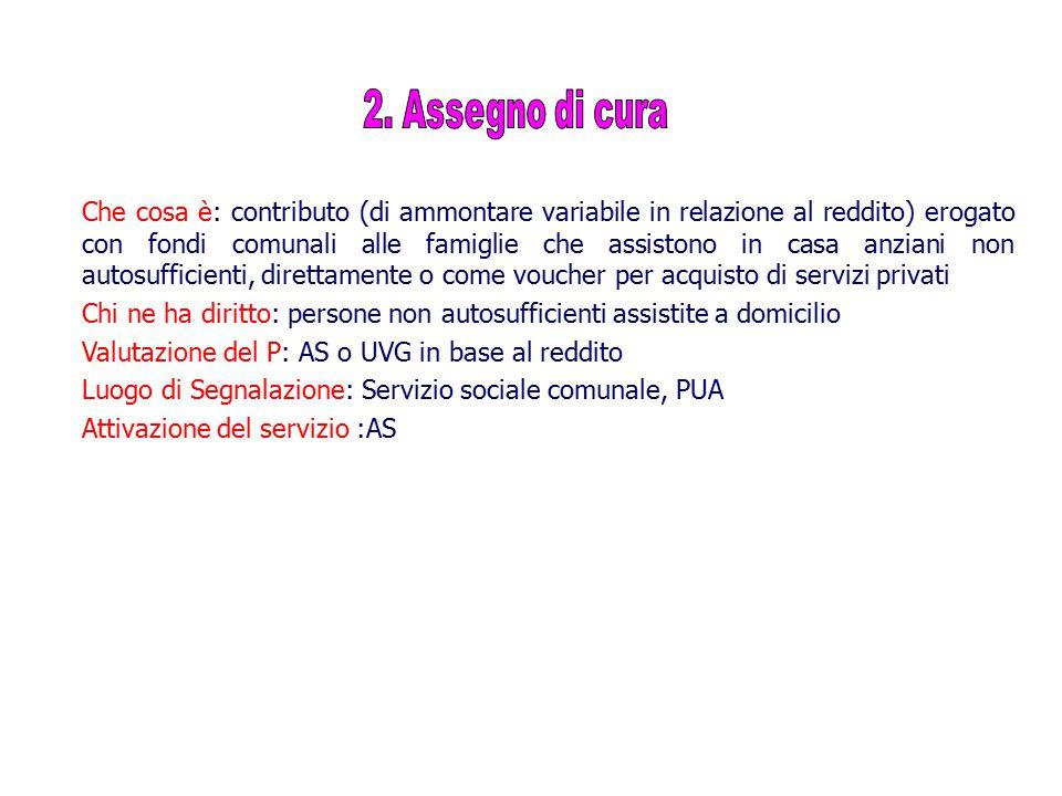2. Assegno di cura