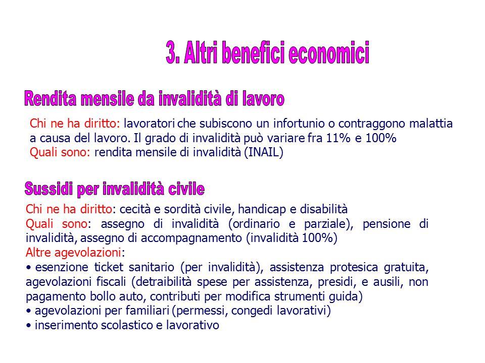 3. Altri benefici economici