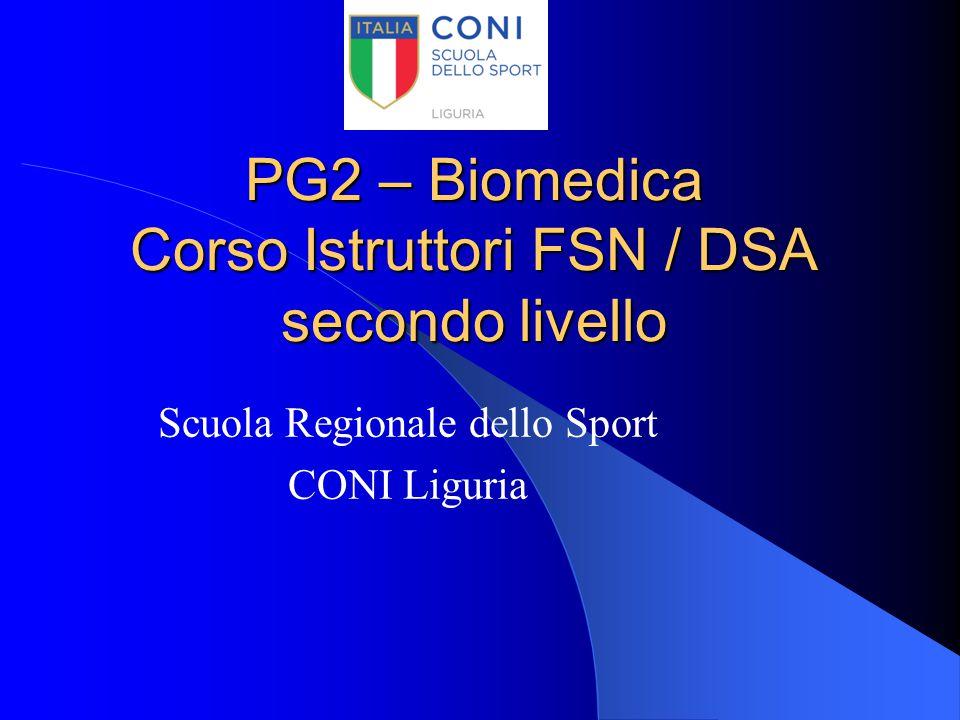 PG2 – Biomedica Corso Istruttori FSN / DSA secondo livello