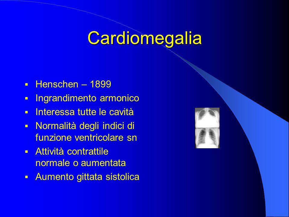 Cardiomegalia Henschen – 1899 Ingrandimento armonico