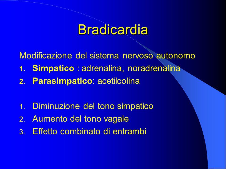 Bradicardia Modificazione del sistema nervoso autonomo