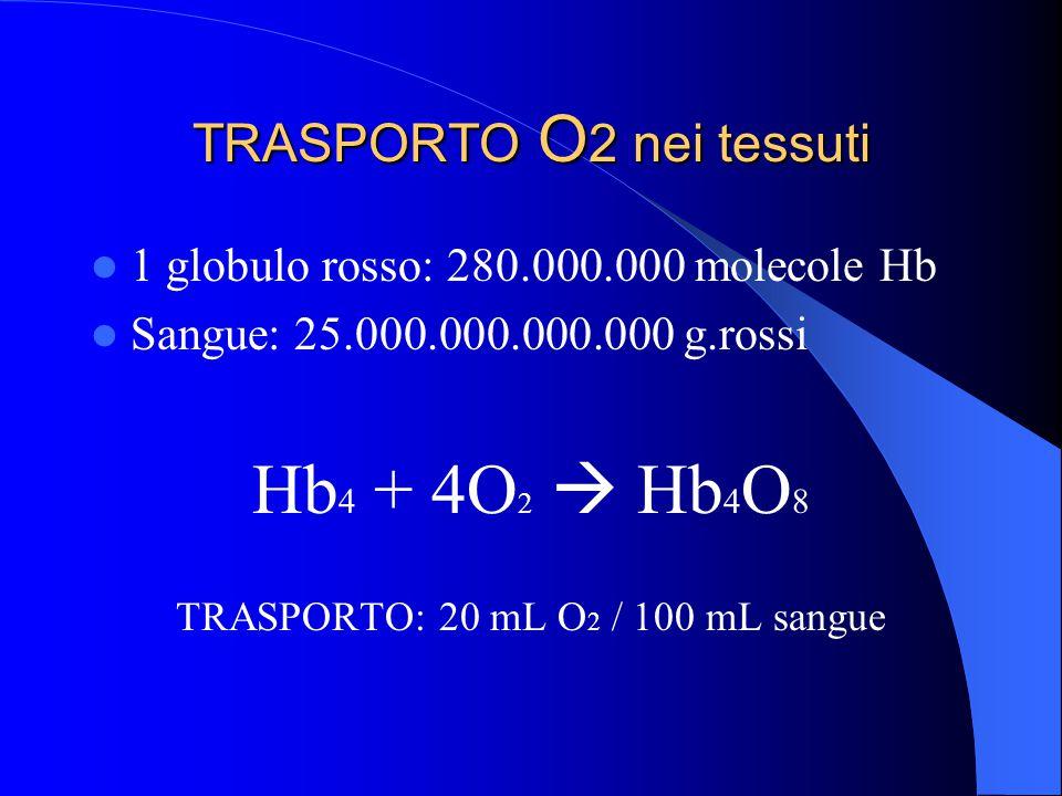 TRASPORTO O2 nei tessuti
