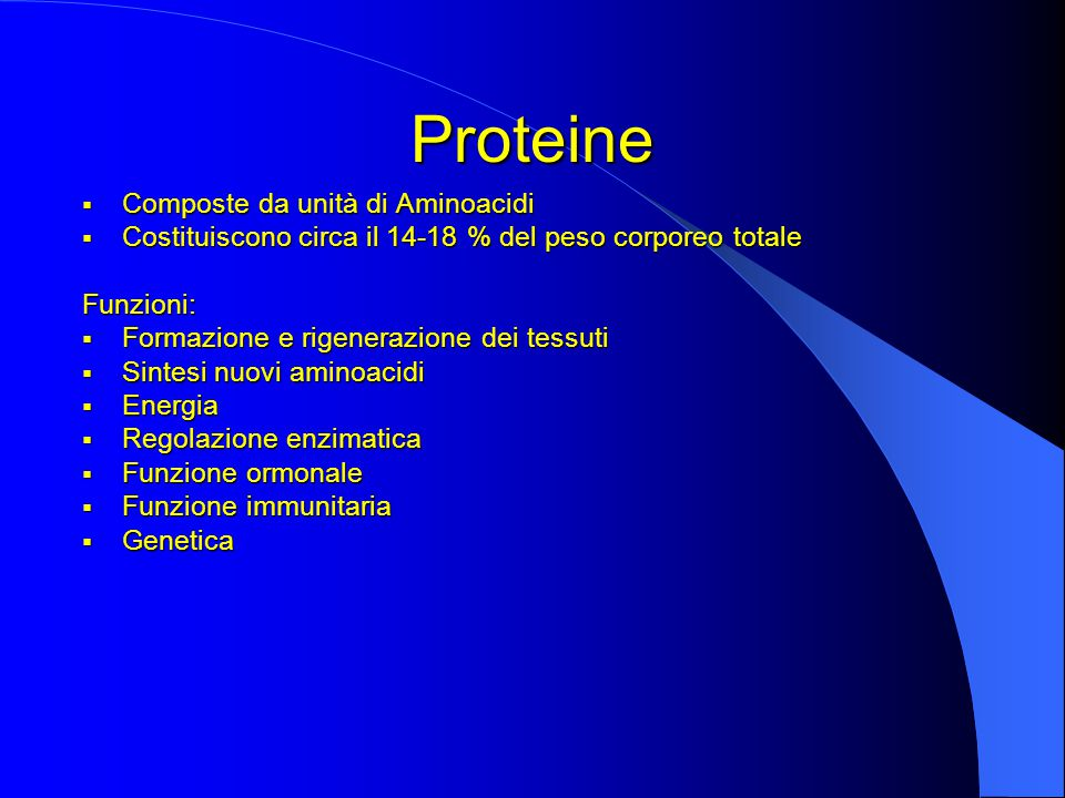 Proteine Composte da unità di Aminoacidi