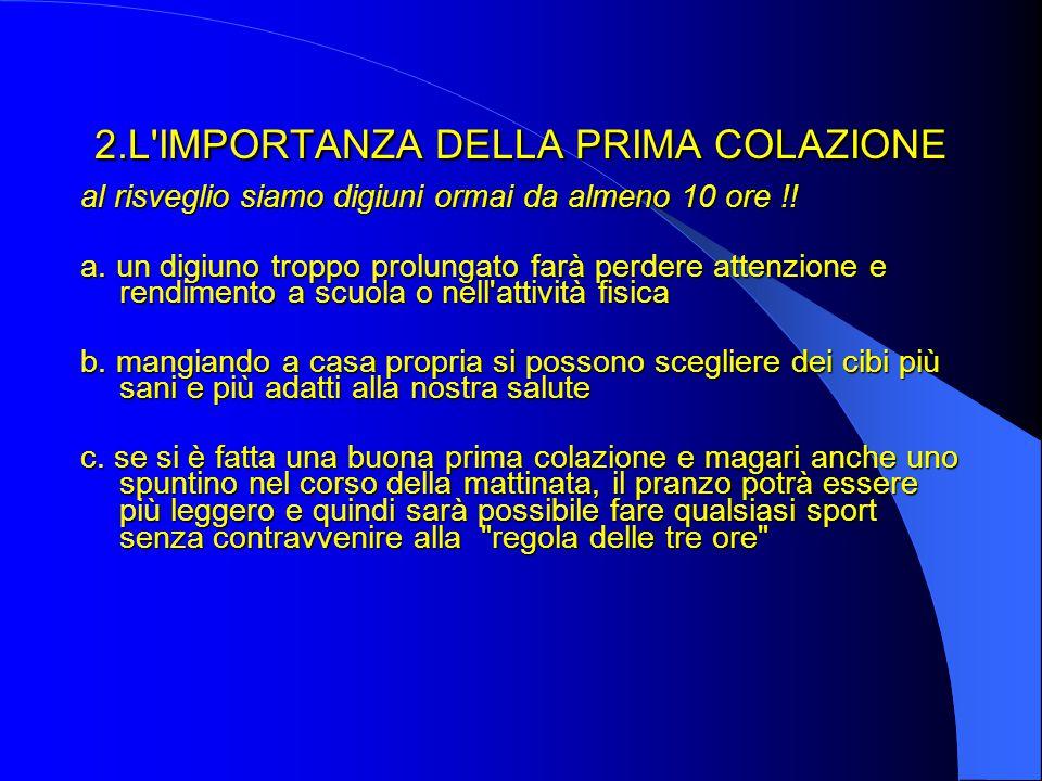 2.L IMPORTANZA DELLA PRIMA COLAZIONE