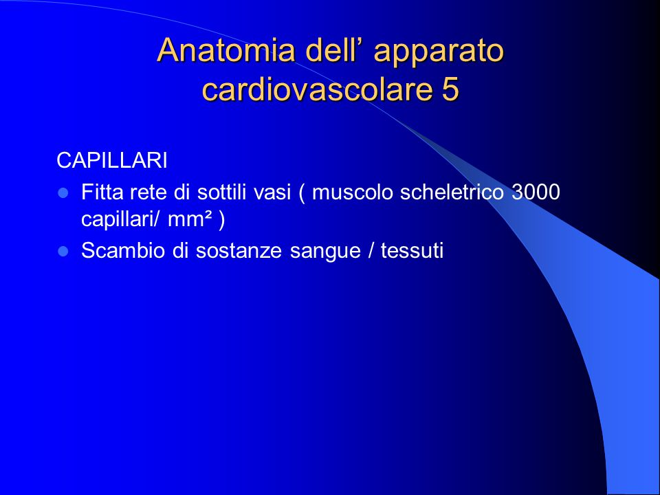 Anatomia dell' apparato cardiovascolare 5