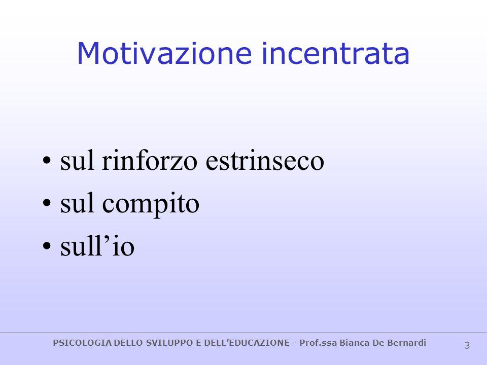 Motivazione incentrata