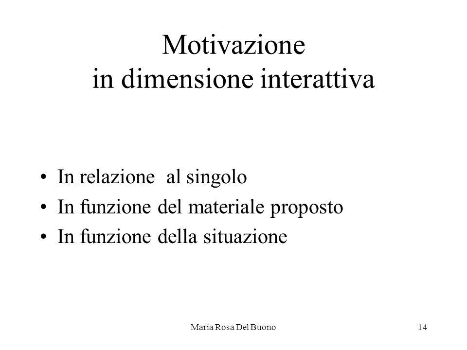 Motivazione in dimensione interattiva