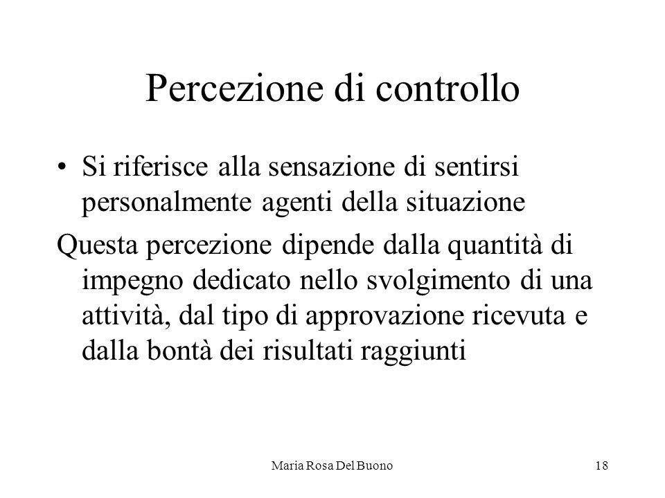 Percezione di controllo