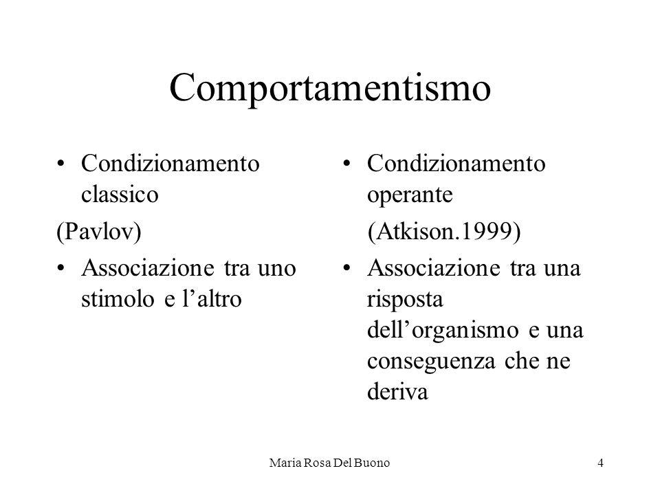Comportamentismo Condizionamento classico (Pavlov)