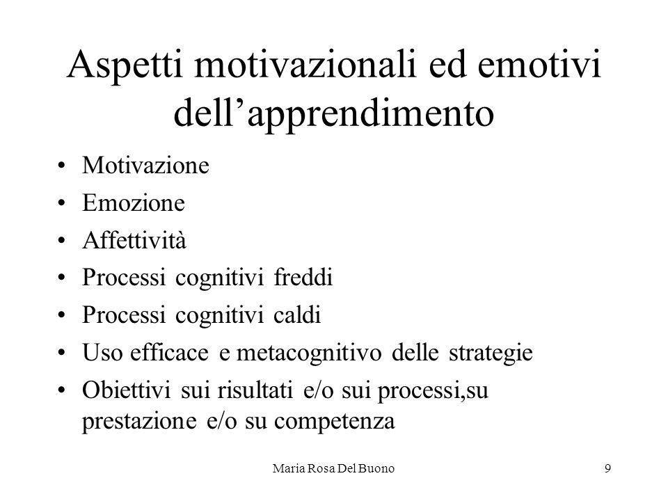 Aspetti motivazionali ed emotivi dell'apprendimento