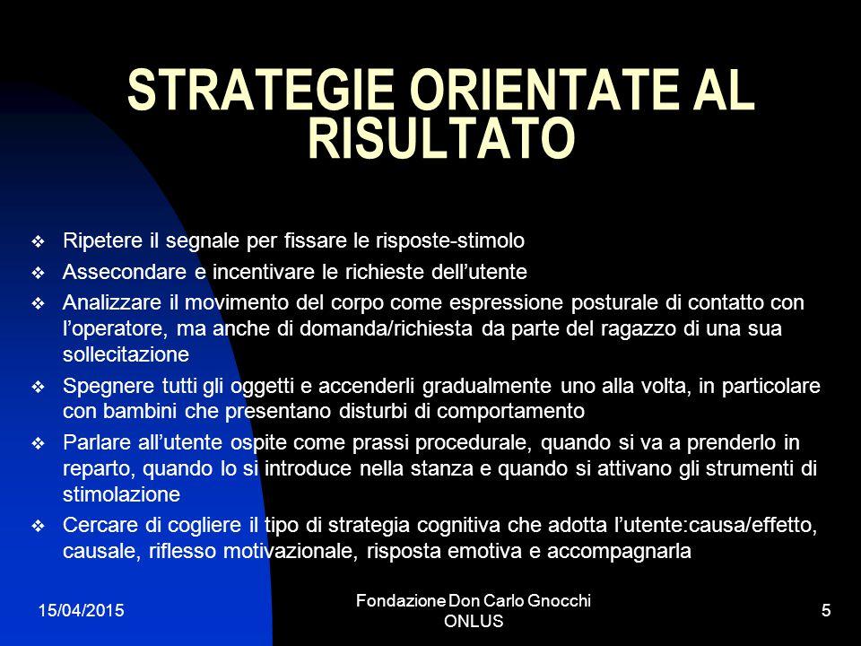 STRATEGIE ORIENTATE AL RISULTATO