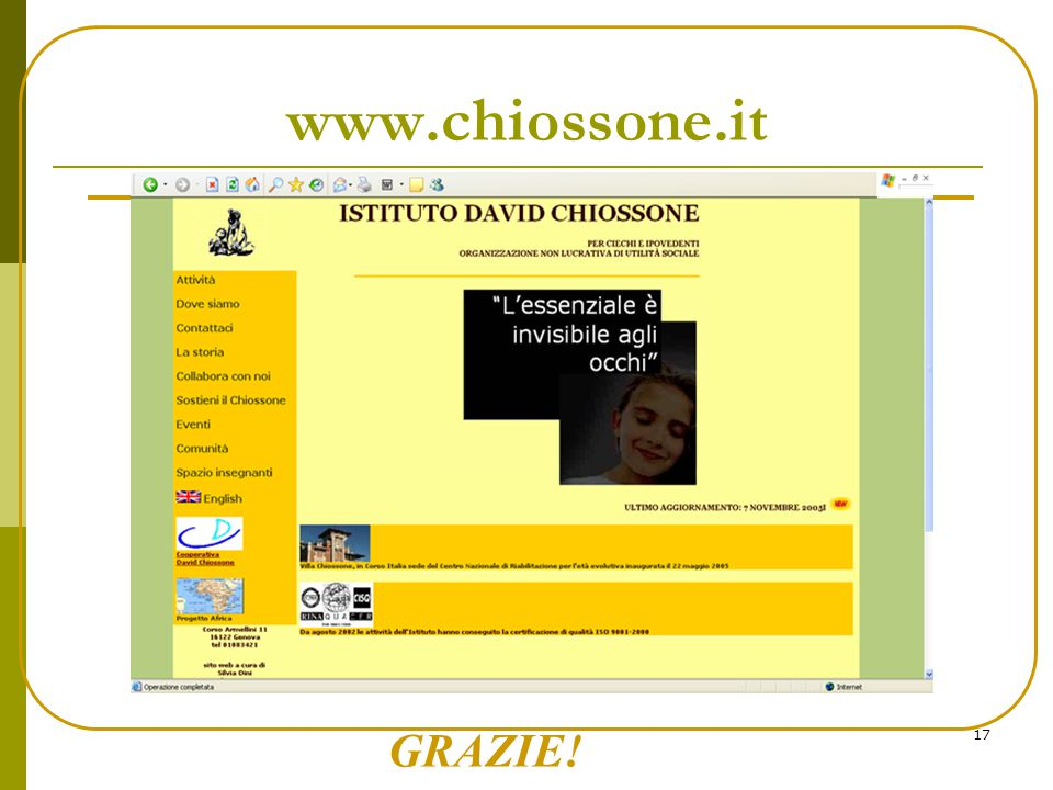 www.chiossone.it GRAZIE!