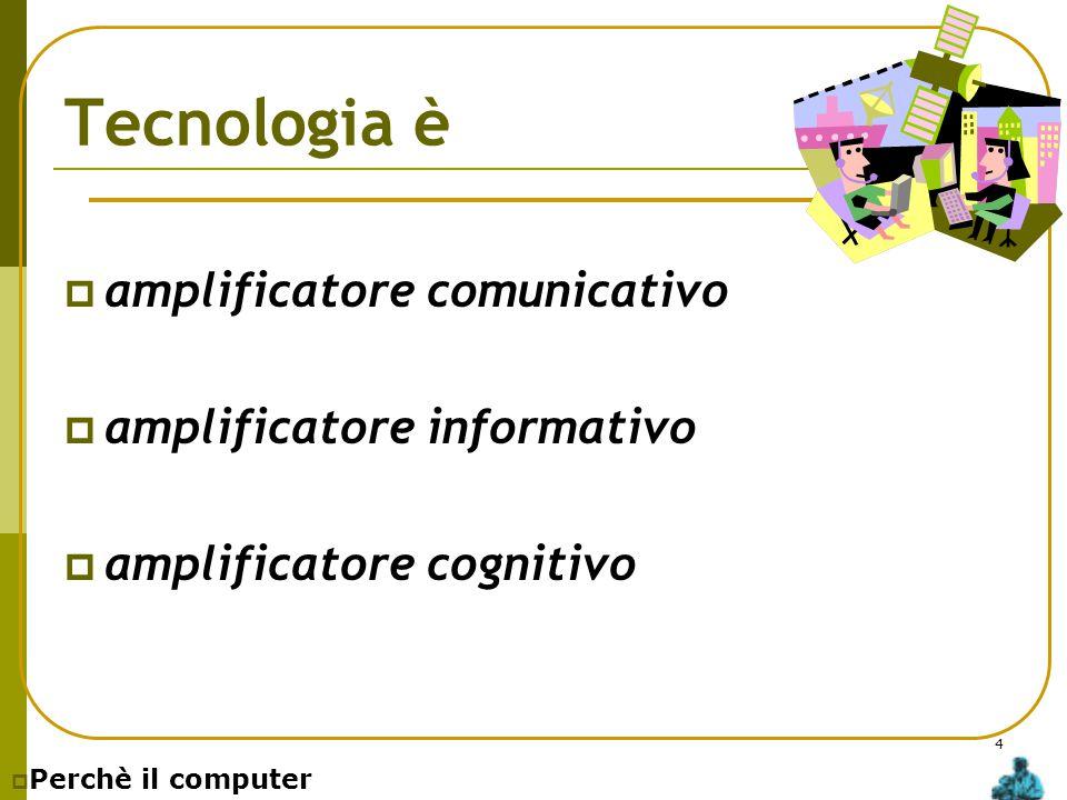 Tecnologia è amplificatore comunicativo amplificatore informativo