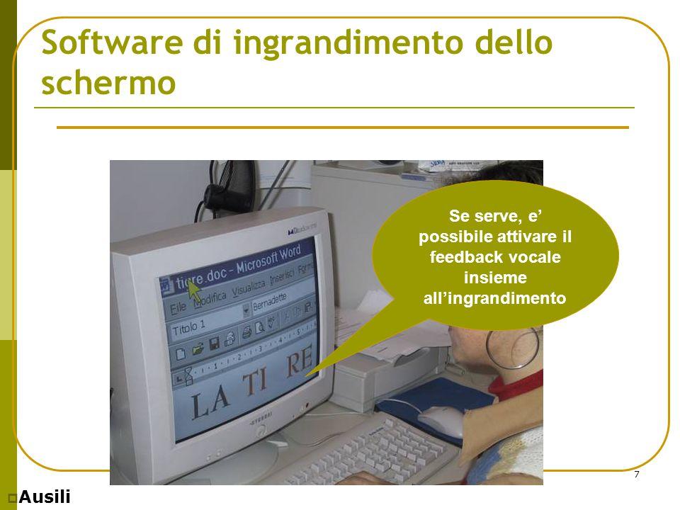 Software di ingrandimento dello schermo
