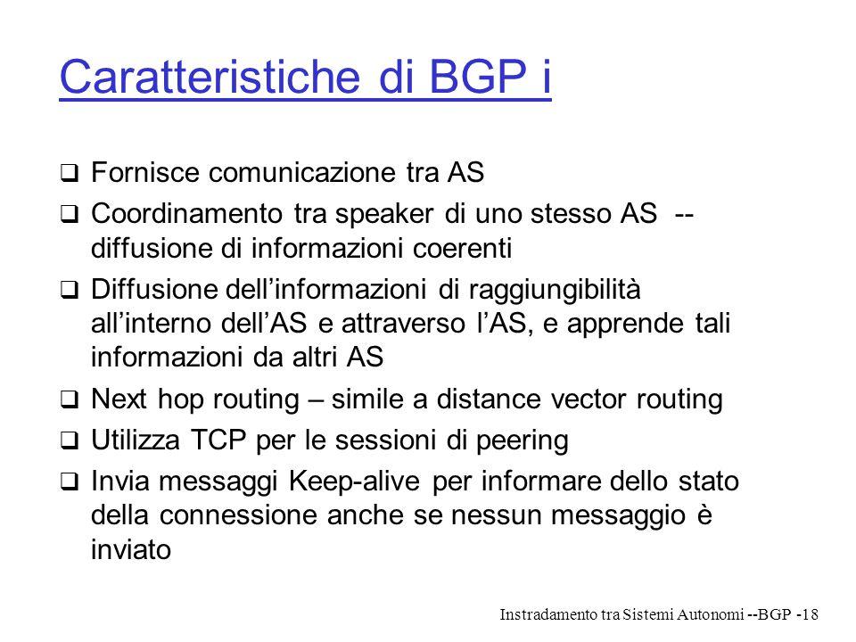 Caratteristiche di BGP i