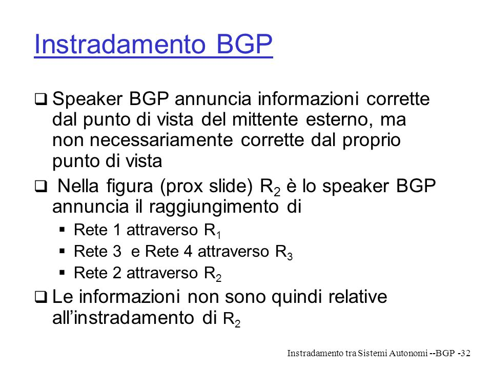 Instradamento BGP