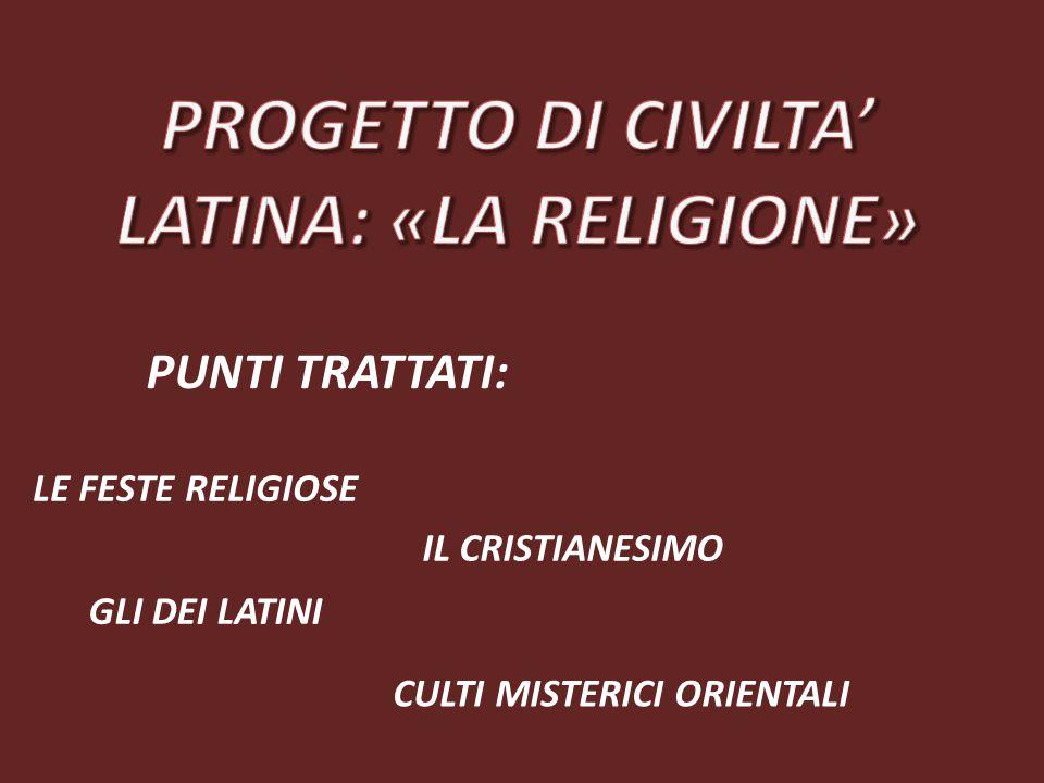 LATINA: «LA RELIGIONE»