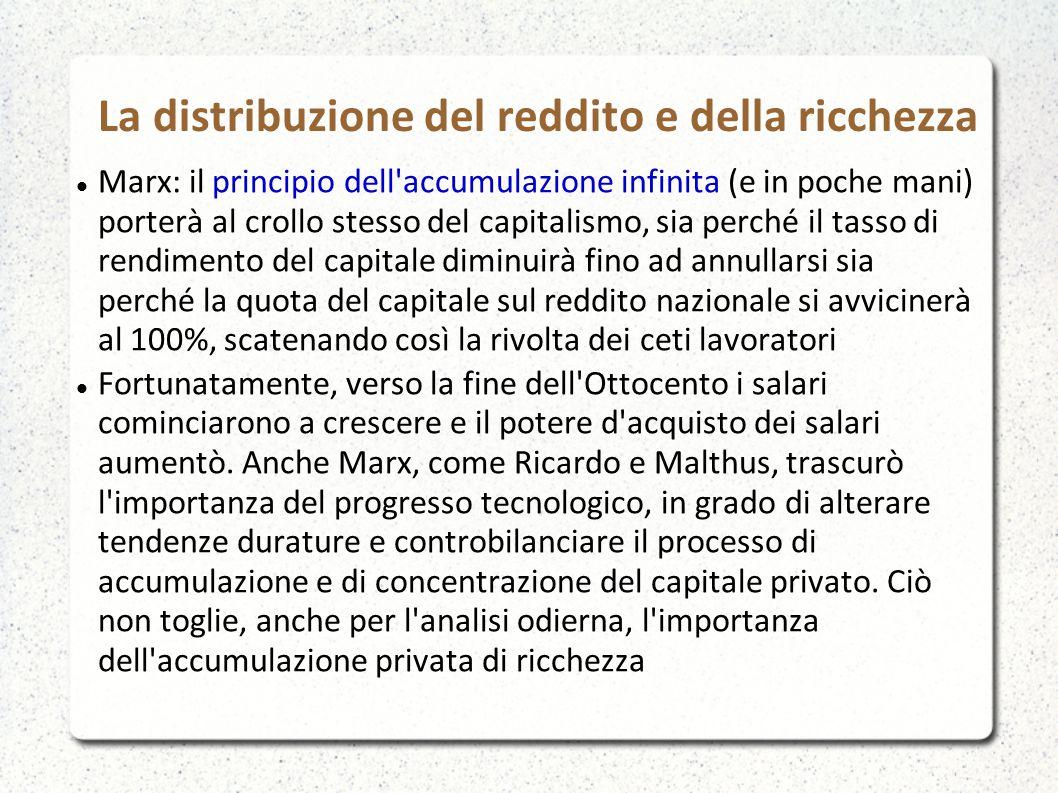 La distribuzione del reddito e della ricchezza