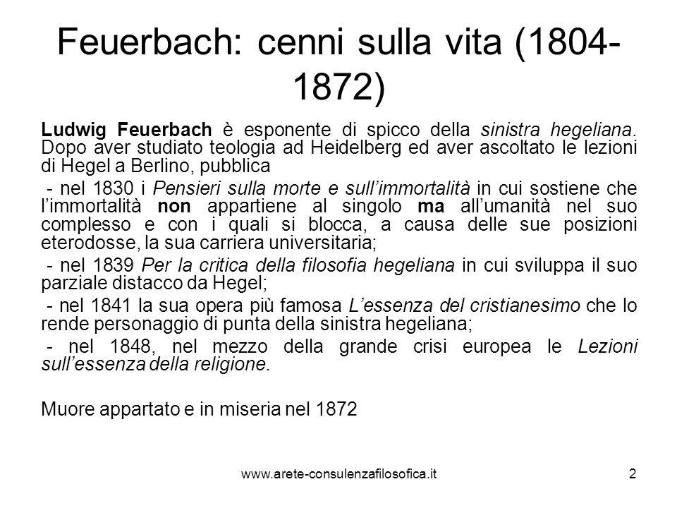 Feuerbach: cenni sulla vita (1804-1872)