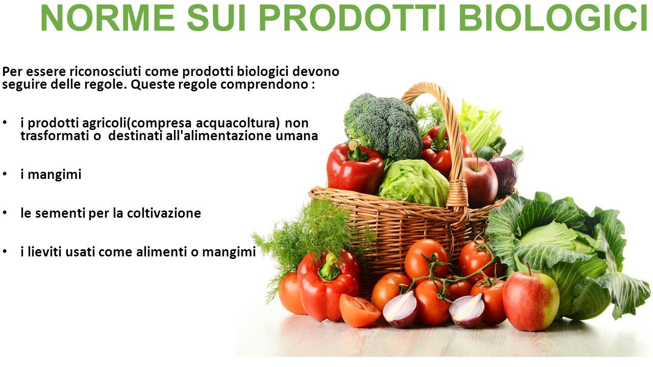 NORME SUI PRODOTTI BIOLOGICI