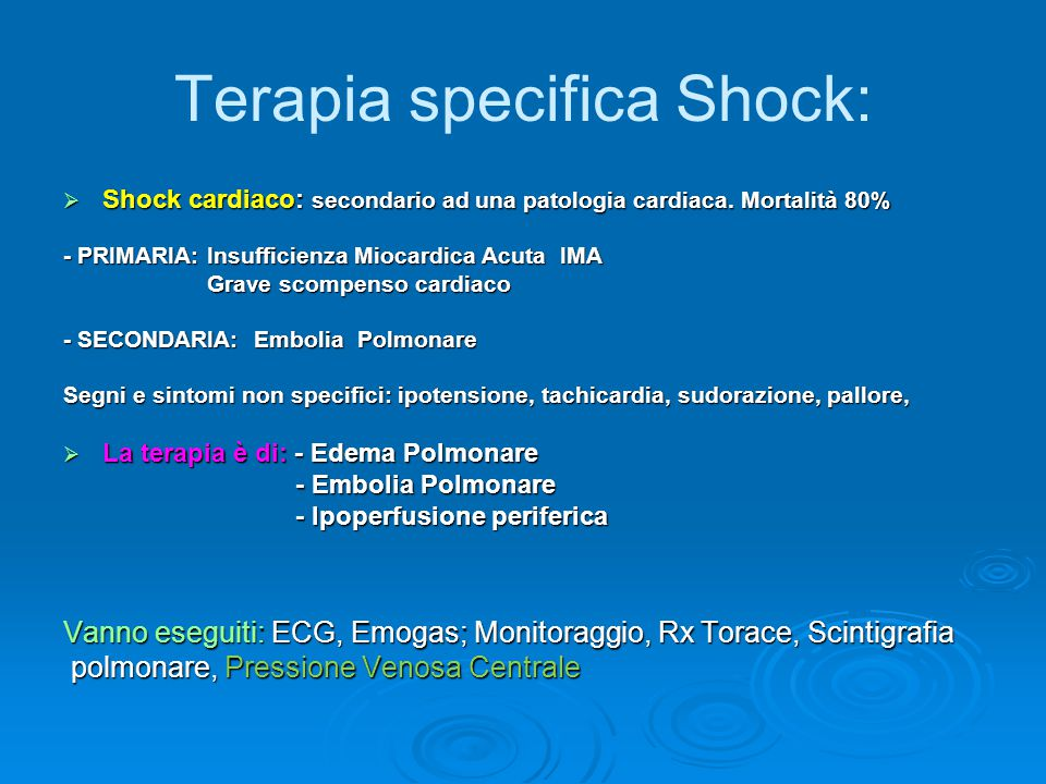 Terapia specifica Shock: