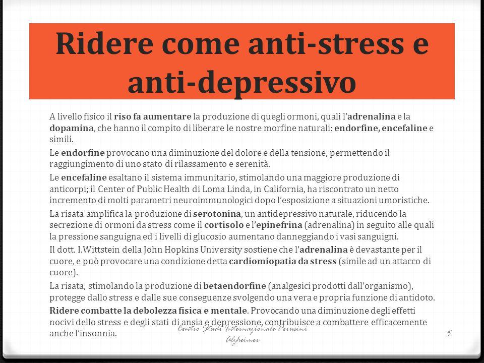 Ridere come anti-stress e anti-depressivo