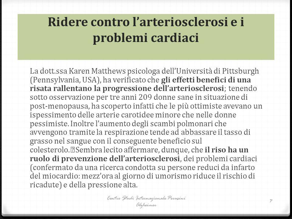 Ridere contro l'arteriosclerosi e i problemi cardiaci