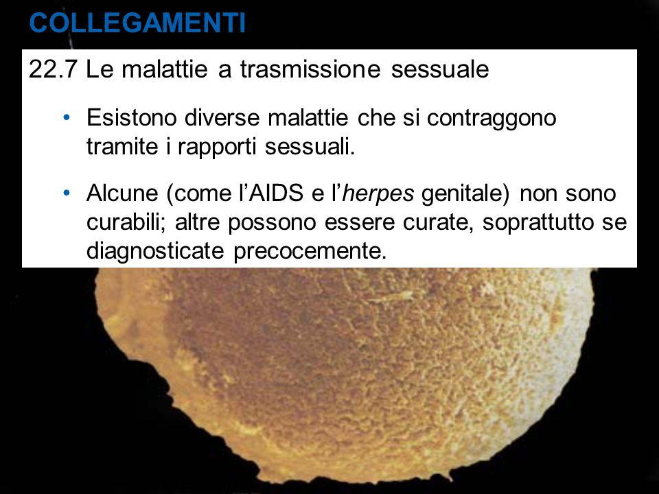COLLEGAMENTI 22.7 Le malattie a trasmissione sessuale