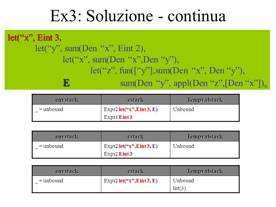 Ex3: Soluzione - continua