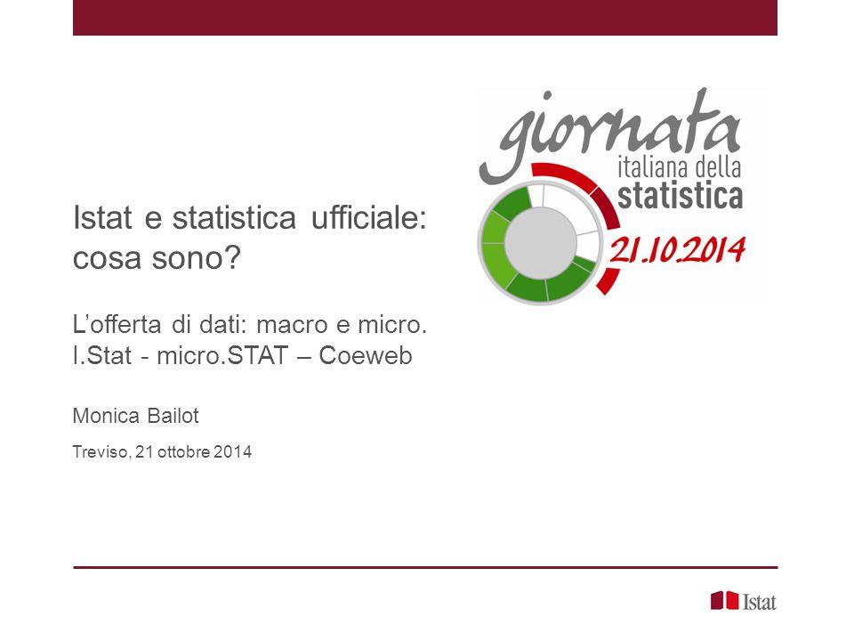 Istat e statistica ufficiale: cosa sono