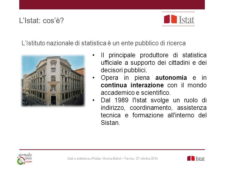 L'Istat: cos'è L'Istituto nazionale di statistica è un ente pubblico di ricerca.