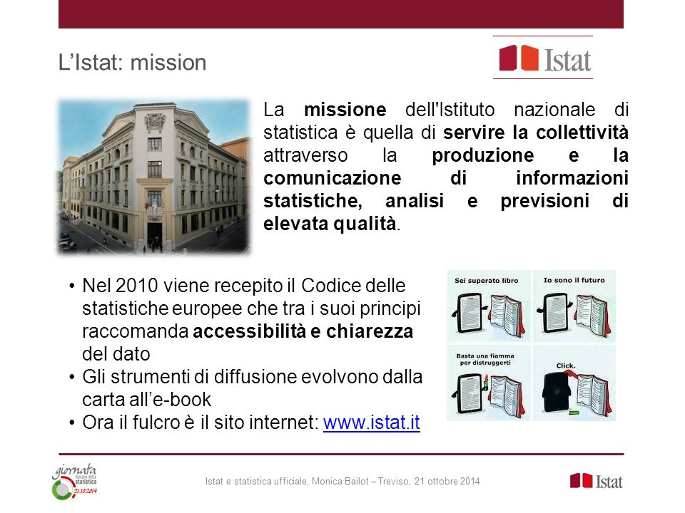 L'Istat: mission