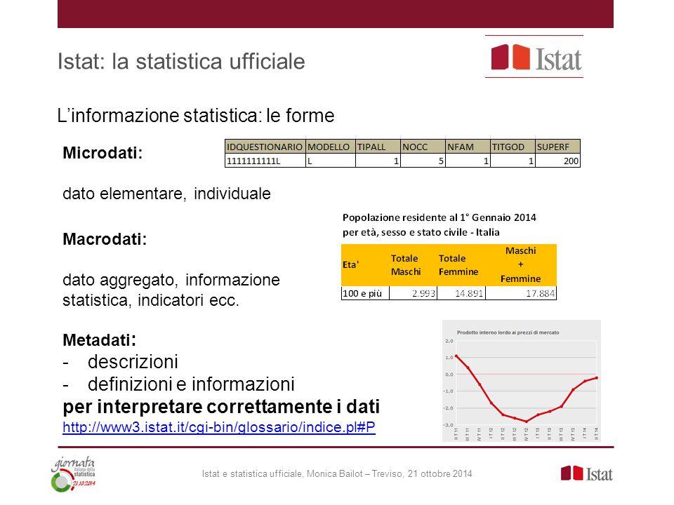 Istat: la statistica ufficiale