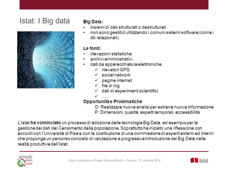 Istat: I Big data Big Data: