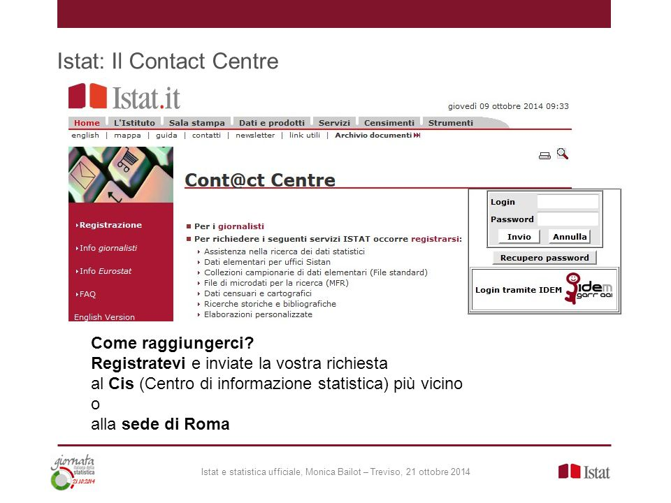 Istat: Il Contact Centre