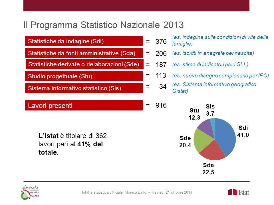Il Programma Statistico Nazionale 2013