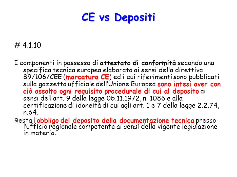 CE vs Depositi # 4.1.10.