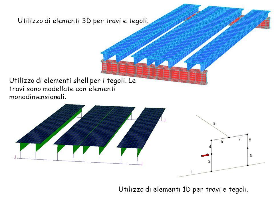 Utilizzo di elementi 3D per travi e tegoli.