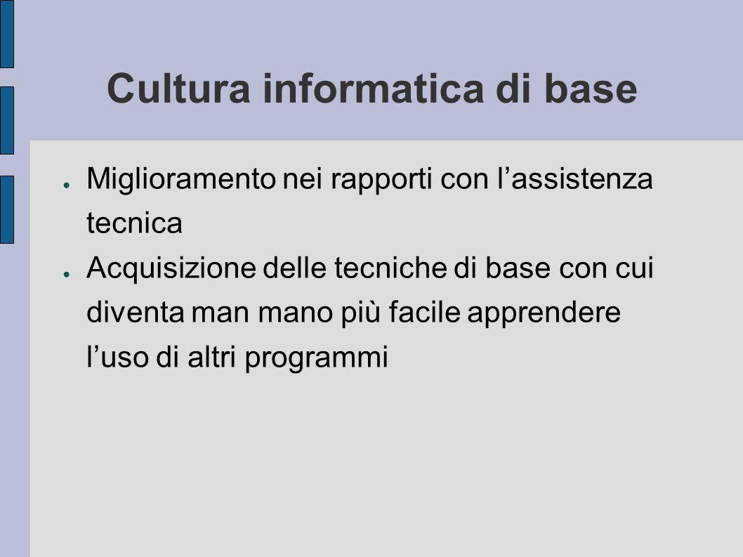 Cultura informatica di base