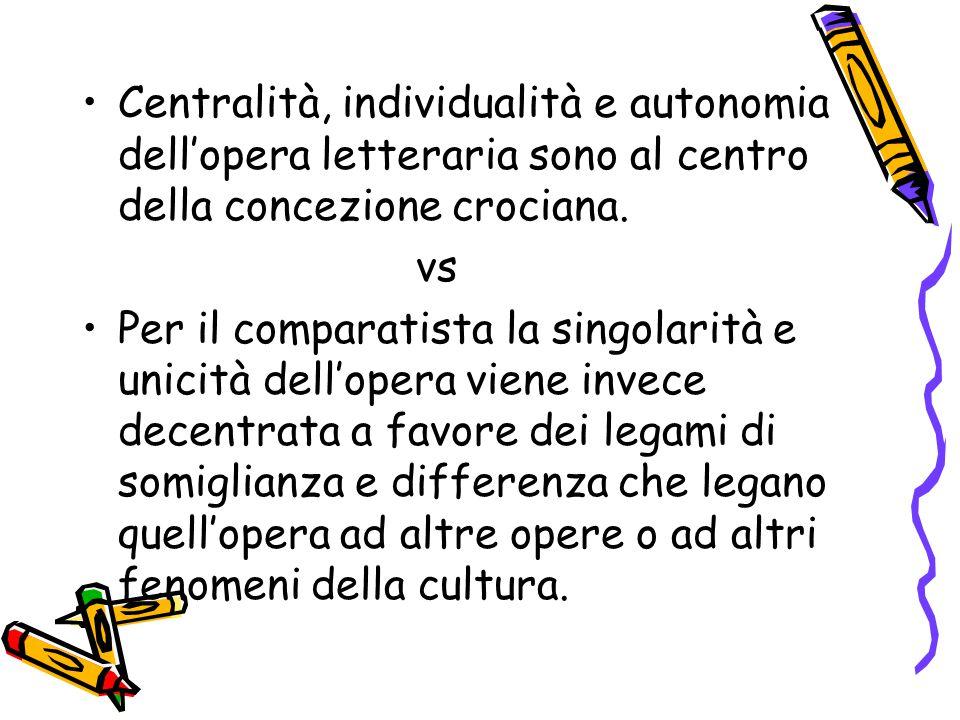Centralità, individualità e autonomia dell'opera letteraria sono al centro della concezione crociana.